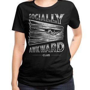 Threadless Socially Awkward Club Tee